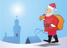 Postcard with Santa Claus motif Stock Image