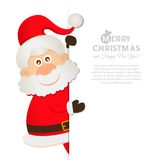 Postcard Santa Claus with space for text Stock Images