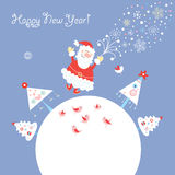 Postcard Santa In Flight Royalty Free Stock Photo