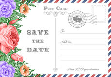 Postcard Save the Date Stock Photography