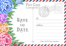 Postcard Save the Date Royalty Free Stock Photo