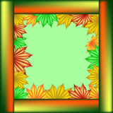 Postcard School of maple leaves. Royalty Free Stock Image