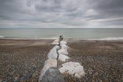 Postcard from the sea, UK coast Royalty Free Stock Photo