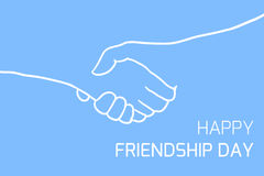 Postcard with  shakes hands Royalty Free Stock Image