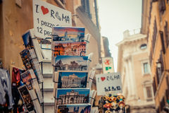 Postcard shop stock image