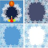 Postcard with snowflake Royalty Free Stock Photography