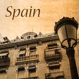 Postcard of Spain in vintage look Royalty Free Stock Photography