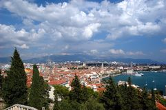 Postcard from Split, Croatia Royalty Free Stock Photography