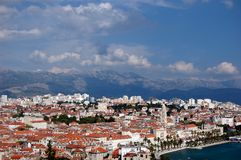Postcard from Split, Croatia Stock Image