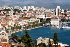 Postcard from Split, Croatia. Scenery of Split in Croatia Royalty Free Stock Photos