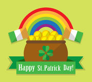Postcard St. Patrick's Day Stock Photo