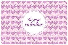 Postcard st valentine's day Royalty Free Stock Photos