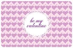 Postcard st valentine's day Royalty Free Stock Photos
