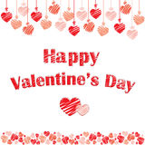 Postcard for St Valentines Day Royalty Free Stock Photography