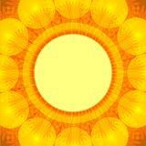 Postcard with summer flower blowball Royalty Free Stock Photography