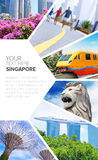Postcard symbols of Singapore Royalty Free Stock Photography