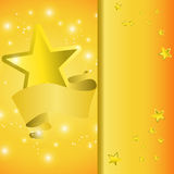 Postcard with a tape star and sequins. For congratulations or registration of your design Stock Photography