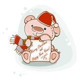 Postcard teddy  bear Stock Photo