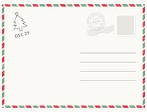 Postcard template paper white texture. Vector postcard empty mail stamp and message design.  vector illustration