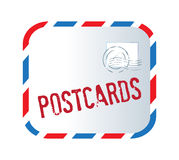 Postcard Text And Letter Stock Photography