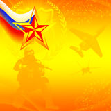 Postcard to the Day of Defender of the Fatherland vector illustration