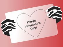 Postcard to the day of the holy valentine. Vector format Royalty Free Stock Photos