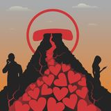 Postcard to the day of the holy valentine. Vector format Stock Photo