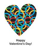 Postcard to the day of the holy valentine. Vector format Royalty Free Stock Photo