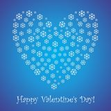 Postcard to the day of the holy valentine. Vector format Stock Photography
