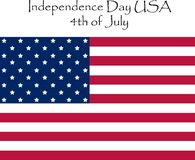 Independence Day of the United States July 4, 2019. royalty free illustration