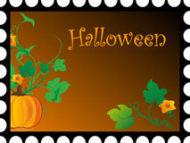Postcard to holiday Halloween Royalty Free Stock Photography