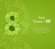 Postcard to March 8. Happy Women's Day background. Stock Photography