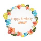 Postcard to mother s day, with flowers. royalty free illustration