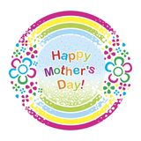 A postcard to the Mother`s Day. Vector format Stock Photo