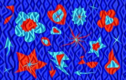 Abstract blue and red colors illustration for congratulations on the holiday. Vector. Postcard to Valentine`s Day, Mother`s Day. Red and light  blue colors Royalty Free Stock Photo
