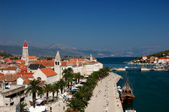 Postcard from Trogir , Croatia. Scenery of Trogir town and port in Croatia Royalty Free Stock Photography