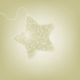 Postcard with a twinkling elegant star. EPS 8 Stock Image