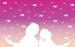 Postcard Valentine Royalty Free Stock Images
