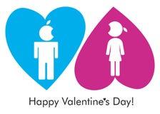 Postcard Valentine Stock Images