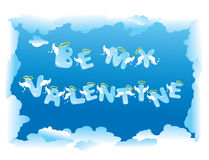 Postcard for Valentine`s Day Royalty Free Stock Photos