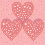 Postcard for Valentine`s day with a beautiful image of heart Royalty Free Stock Photo