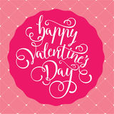 Postcard for Valentine`s day with a beautiful image of heart Royalty Free Stock Photography