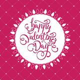 Postcard for Valentine`s day with a beautiful image of heart Stock Image