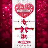 Postcard Valentine's Day Royalty Free Stock Photos