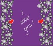 Postcard `I love you!` stock photos