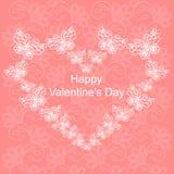 Postcard on Valentine`s Day. Stock Photography