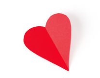 The postcard. Valentine's Day. Red heart on white background Stock Photo