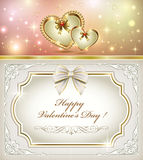 Postcard for Valentines Day Royalty Free Stock Image