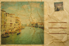 Postcard of Venice, Italy Stock Image