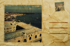 Postcard of Venice, Italy Stock Photo